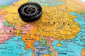 Chinese Map Compass On Chinese Map Stock Photo Picture And Royalty Free