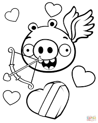 minion pig valentine theme coloring page free printable coloring