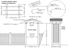 garden arbor plans garden arbor free plans with step by step building instructions