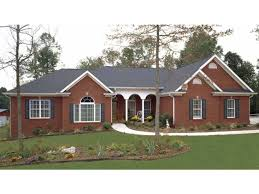 brick 4 bedroom ranch house plans with basement house design and