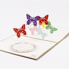 new 3d handmade card greeting cards butterfly handmade origami 3d