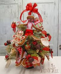 pine tree with raz gingerbread trendy tree decor