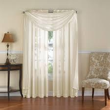 venetian stripe rod pocket sheer window curtain panel rod pocket