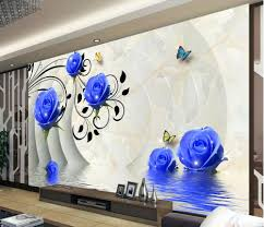 3d wallpaper picture more detailed picture about 3d blue rose