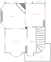 the victorian house u0027s floor plan entryway double parlor and