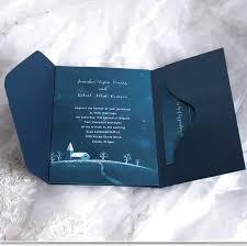 Pocket Wedding Invites Brilliant Starlight Pocket Wedding Invitation Ukps035 Ukps035