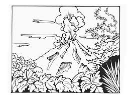 coloring pages volcano free printable volcano coloring pages for kids volcano free