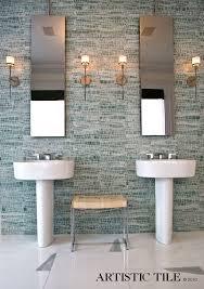 CarraraporcelaintileBathroomContemporarywithmosaic - Porcelain backsplash