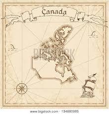 canada old treasure map sepia vector u0026 photo bigstock
