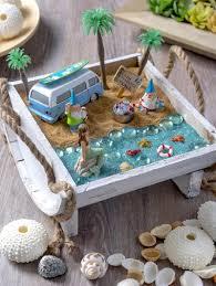 how to make a beach fairy garden mod podge rocks