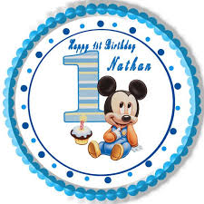 mickey mouse 1st birthday baby mickey mouse 1st birthday edible cake topper cupcake