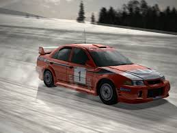 mitsubishi rally car mitsubishi lancer evolution vi rally car driving 2 by patemvik on