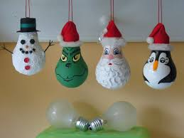 ideas handmade light bulb christmas ornaments don u0027t throw those