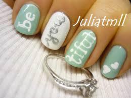 be you be beautiful nail art tutorial youtube