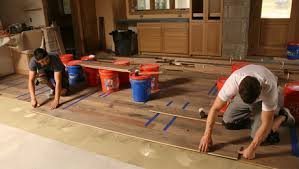 master carpenter wood floors on a concrete slab homebuilding