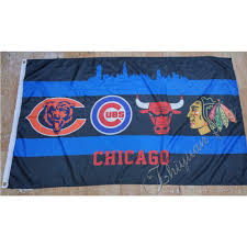 Bulls Flag 2016 Chicago Bears Chicago Cubs Chicago Bulls Chicago Blackhawks