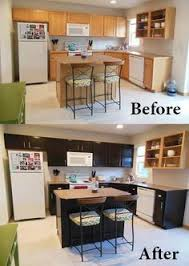 Confessions Of A SemiDomesticated Mama How To Gel Stain Your - Black stained kitchen cabinets