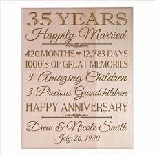 35 year anniversary gift 35th wedding anniversary gift wooden wall hanging plaque sign