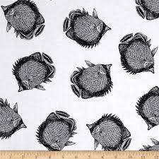 kanvas neptune u0027s dream angel fish white discount designer fabric