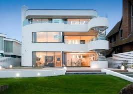 Modern Concrete Home Plans Luxury Modern Concrete Home Plans With White Exterior Color And