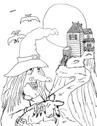 Coloring Pages For Halloween Free Printable by Download Coloring Pages Halloween Witches Coloring Pages