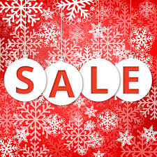 christmas sale christmas sale poster with snowflakes and background free