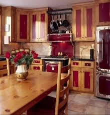 kitchen gorgeous rustic red painted kitchen cabinets staining