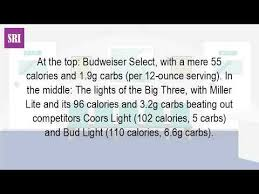 how many calories in a can of coors light how many calories are in a pint of coors light youtube