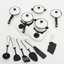ustensile de cuisine en plastique 12pcs jouet enfant ustensile plastique pour cuisson cuisine maison