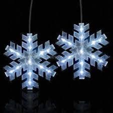 snowflake led hanging light decoration to hang up and shine