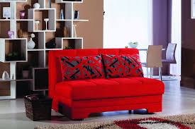Sofa Come Bed Furniture Upholstered Loveseat Sofa Sleeper Red Space Saver Futon The