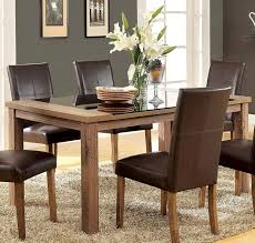 Tempered Glass Dining Table Buy Furniture Of America Cm3565t Sundance Dining Table With Black
