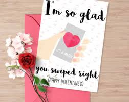 valentines day cards for him s day cards etsy