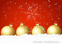 decorative christmas balls on red vector free download