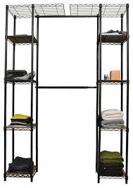 trinity expandable closet organizer dark bronze contemporary