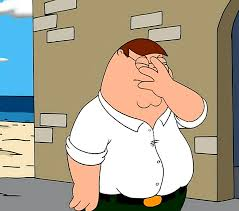 Palm Face Meme - family guy face palm blank template imgflip