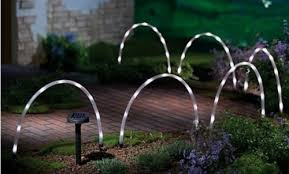 garden mile 6x led solar stick lights solar powered