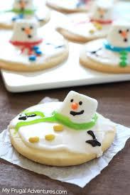 melting snowman sugar cookies my frugal adventures