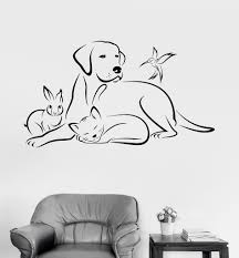 vinyl wall decal pets animals dog bird cat veterinary medicine