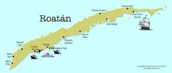 map of roatan honduras roatan maps