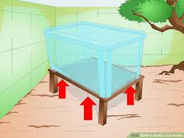How To Build A Wooden Table Top Jump by How To Build A Cat House 15 Steps With Pictures Wikihow