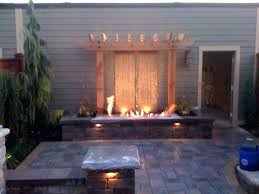 outdoor water features with lights backyard fire and water features all for the garden house beach