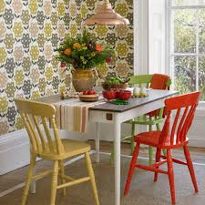 colorful dining room tables with nifty colorful painted dining