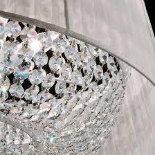 Shaded Crystal Chandelier Italian Designer Shaded Crystal Chandelier Colour Options