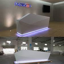 Hospital Reception Desk China Dental Furniture Luxury 3 Person Led Acrylic Retail Hospital