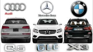 2018 new bmw x3 vs mercedes amg glc 43 4matic vs audi q5 youtube