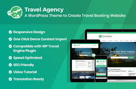 travel booking images Travel agency free wordpress theme for travel booking jpg