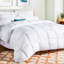 linenspa white goose down alternative queen comforter with duvet