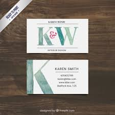 how to start an interior design business hand painted interior design business card vector free download