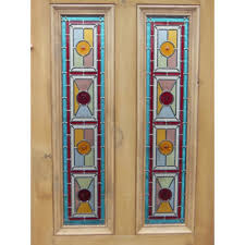 Stained Glass Door Panels by Sd025 Victorian Edwardian 4 Panel Exterior Door With Stained